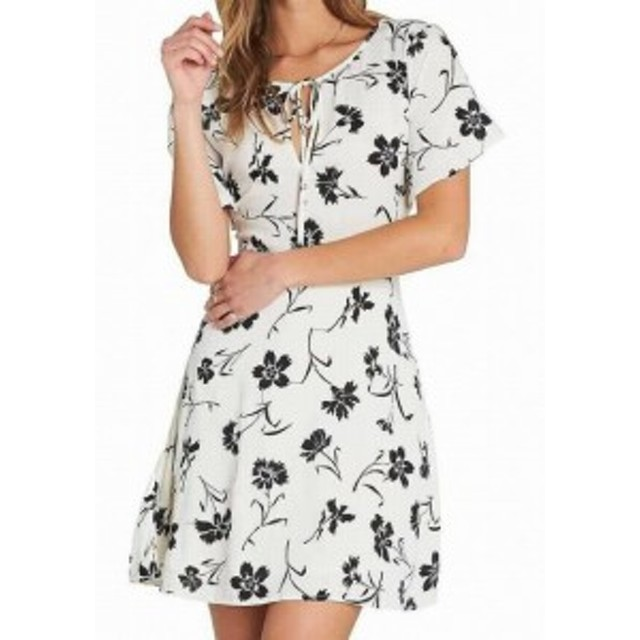 billabong ビラボン ファッション ドレス Billabong Womens White Size Medium M Tomorrows End Printed Shift Dress