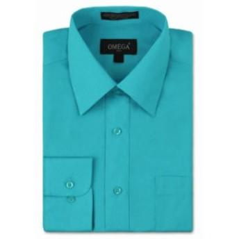 ファッション ドレス NEW Omega Italy Mens Dress Shirt Long Sleeve Solid Color Regular Fit 10 Colors