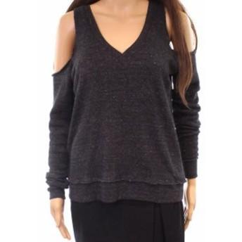 Alternative オルタナティブ ファッション トップス Alternative NEW Gray Womens Large L Pullover Cold-Shoulder Sweater