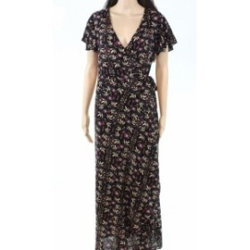 Lost ロスト ファッション ドレス Lost in Lunar Womens Dress Black Size Small S Wrap Maxi Floral-Print
