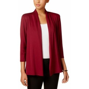 Sangria サングリア ファッション 衣類 Kasper NEW Red Sangria Womens Size Small S Open Front Stretch Jacket