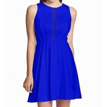 GUESS ゲス ファッション ドレス Guess NEW Blue Womens Size 4 Mesh Scuba Stitching Detail A-Line Dress