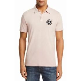 John Varvatos ジョンバルバトス ファッション アウター John Varvatos NEW Light Pink Mens Size Medium M Usa Patch Polo Shirt