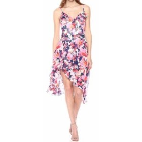 kensie ケンジー ファッション ジャンプスーツ Kensie Womens Pink Size 12 Sheath V-neck Floral Print Chiffon Dress
