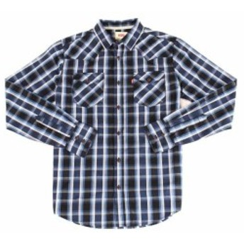 Levis リーバイス ファッション アウター Levis NEW Blue Mens Size Small S Button Down Plaid Dual Pocket Shirt
