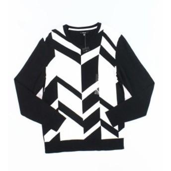 Alfani  ファッション トップス Alfani NEW Black Mens Size Large L V-Neck Broken Chevron Sweater