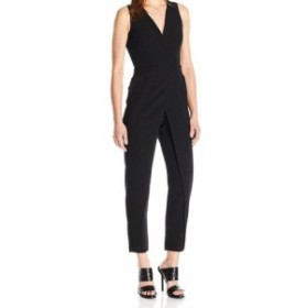 ファッション ジャンプスーツ BCBG Generation Womens Black Size 8 Crepe V-Neck Vest Jumpsuit