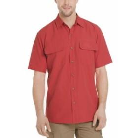 Bass バス ファッション アウター G.H. Bass & Co. Mens Red Size XL Explorer Pocket Button Down Shirt