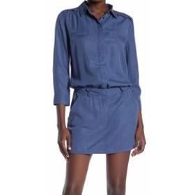 ファッション ドレス Etienne Marcel Womens Collared Buttoned Blue Size XS Shirt Dress