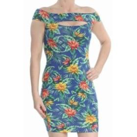 GUESS ゲス ファッション ドレス Guess NEW Blue Womens Size XL Floral Cutout Off Shoulder Sheath Dress