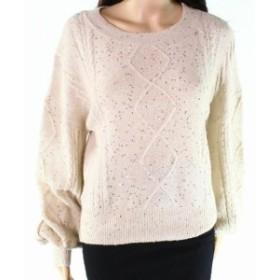 ファッション トップス Ontwelfth Womens Beige Size Small S Sequined Knitted Pullover Sweater