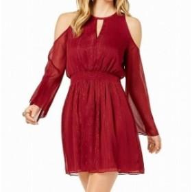 Rachel Zoe レイチェルゾー ファッション ドレス Zoe By Rachel Zoe Womens Dress Red Size Medium M Shift Cold Shoulder