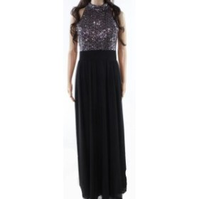 Jessica Howard ジェシカハワード ファッション ドレス Jessica Howard Womens Black Size 10 Sequin High Neck Chiffon Gown