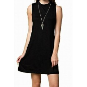 Shift  ファッション ドレス Brigette Bailey NEW Black Cutout Womens Size Large L Shift Tank Dress