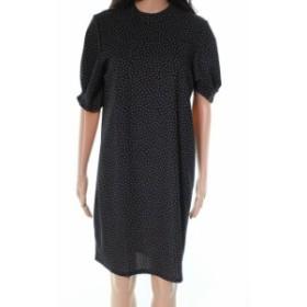 ファッション ドレス The Vanity Room NEW Black Polka Dot Women Large L Pleated Cuff Dress