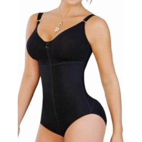 Salome  スポーツ用品 フィットネス Salome Womens Black Butt Lifter Body Shaper with Bra Size 3X Plus Girdle