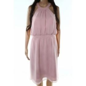 Rose  ファッション ドレス Wtoo NEW Rose Pink Womens Size 10 Halter Blouson Solid Sheath Dress