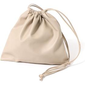 JOKnet ショルダーバッグ レディース 斜めがけ ミニ バッグ レディース 鞄 かばん 肩掛け ハンドバッグ ミニバッグ 軽量 巾着 ベージュ F