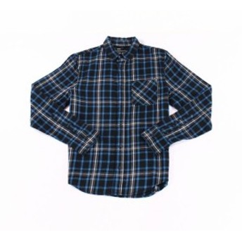 Plaid  ファッション アウター PUBLIC OPINION Mens Blue Size Small S Button Down PLaid Flannel Shirt