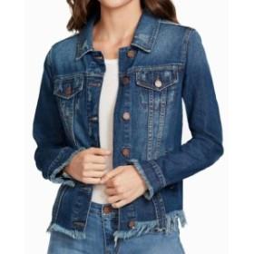 William Rast ウィリアムラスト ファッション 衣類 William Rast Jacket Blue Size XS Junior Denim Jean Frayed Ripped