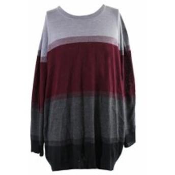 ファッション トップス Club Room Big & Tall Grey Multi Colorblocked Sweater 4XB