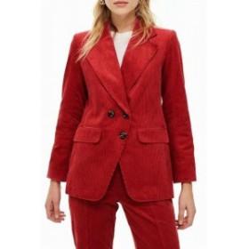 Blazer ブレザー ファッション 衣類 TopShop Womens Dark Pink Size 6 Two-Button Corduroy Blazer Jacket
