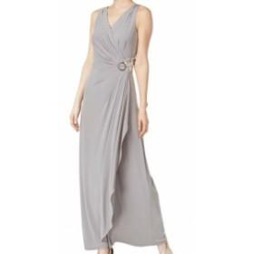 Calvin Klein カルバンクライン ファッション ドレス Calvin Klein Womens Gray Size 10 Embellished Ruffled Gown Dress