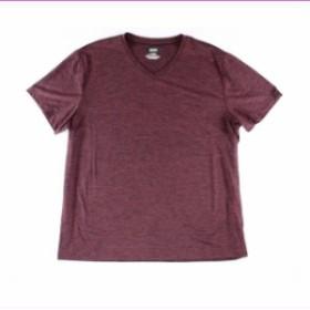 HEATHER  ファッション トップス Alfani Mens T-Shirt Red Size 3XL Pullover Stretch Heather V Neck