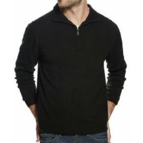 Weatherproof ウォータープルーフ ファッション トップス Weatherproof NEW Black Mens Size Large L Pullover 1/2 Zip Sweater