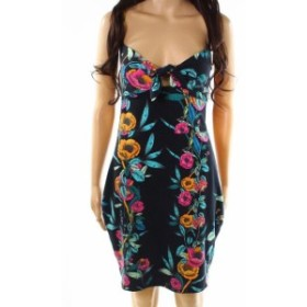 GUESS ゲス ファッション ドレス Guess NEW Black Womens Size Large L Floral Print Tie Front Slip Dress