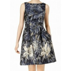 Jessica Howard ジェシカハワード ファッション ドレス Jessica Howard NEW Blue Navy Floral Brocade Womens 12 Sheath Dress