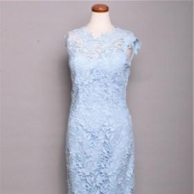 ERUKEI ドレス エルケイ キャバドレス ナイトドレス ワンピース ライトブルー 青 7号 S L18109 クラブ スナック キャバクラ パーティード