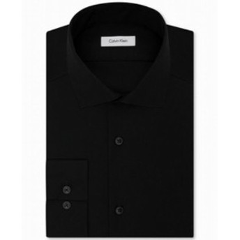 Calvin Klein カルバンクライン ファッション ドレス Calvin Klein Mens Black Size 18 Slim Fit Performance Dress Shirt