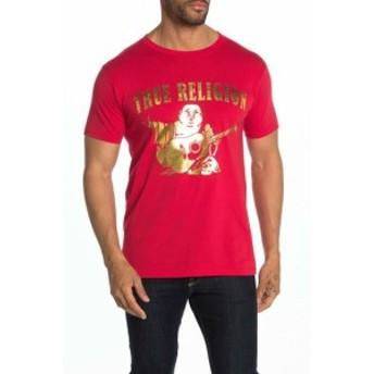 Religion  ファッション トップス True Religion Mens Metallic Buddha Logo Tee T-Shirt