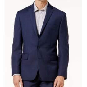 Blazer ブレザー ファッション フォーマル Ryan Seacrest NEW Blue Mens Size 42 Long Two Button Wool Blazer