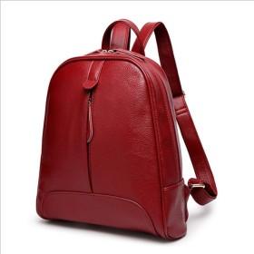 バックパック女性の韓国語バージョンのトレンド女性のバッグ旅行バックパックシンプルな野生の大学風バッグ SLhouse (Color : Winered)