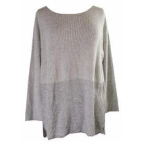 Silver  ファッション トップス Inc International Concepts Plus Size Grey Silver Metallic High-Low Sweater 1X