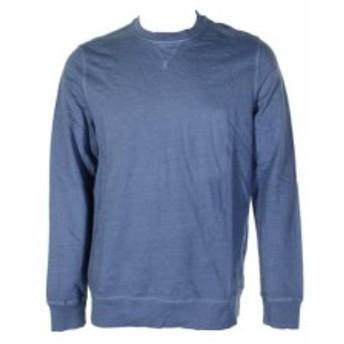 ファッション トップス Club Room Blue Lightweight Long Sleeves Round Neck Cotton Jumper M