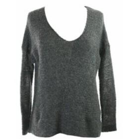 Eileen Fisher アイリーンフィッシャー ファッション トップス Eileen Fisher Silver Metallic V-Neck Sweater M
