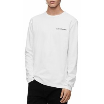 Calvin Klein カルバンクライン ファッション トップス Calvin Klein NEW White Black Mens Size 2XL Graphic Print Tee Shirt