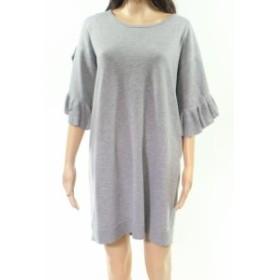 max マックス ファッション ドレス Max Studio NEW Gray Womens Size Medium M Ruffle Sleeve Sweater Dress