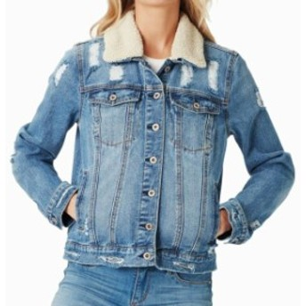 Jessica Simpson ジェシカシンプソン ファッション 衣類 Jessica Simpson Womens Jacket Blue Size XS Denim Jean Faux-Shearling