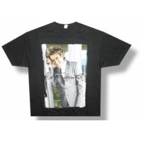 Rod  ファッション トップス Rod Stewart-Smiling Portrait-2014 Tour-Black Lightweight T-shirt