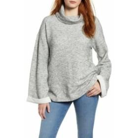 ファッション トップス Caslon Womens Gray Size Small S Carmen Tweed Cowl Neck Knit Sweater