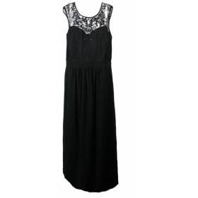 City Chic シティシック ファッション ドレス City Chic Plus Size Black Embellished Lace Bodice Gown M-18W