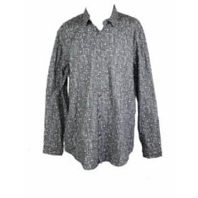 Alfani  ファッション アウター Alfani Grey Printed Long Sleeve Fit Shirt XXL