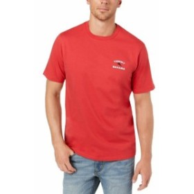 Tommy Bahama トミーバハマ ファッション トップス Tommy Bahama NEW Red Mens Size Large L Grill Graphic Print Tee Shirt
