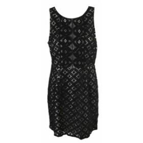 kensie ケンジー ファッション ドレス Kensie black combo sleeveless lining lace dress a line m