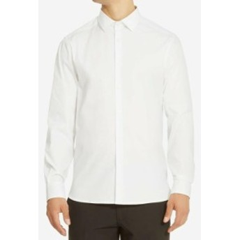 Kenneth Cole ケネスコール ファッション アウター Kenneth Cole Reaction NEW White Mens Size XL Solid Button Down Shirt