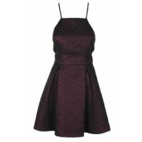 BCBGeneration BCBG ジェネレーション ファッション ドレス Bcbgeneration Red Spaghetti Strap Metallic Fit & Flare Dress 10